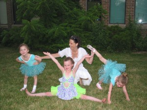Erika celebrating with my girls at a dance recital