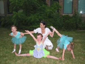 Erika celebrating with my girls at a dance recital