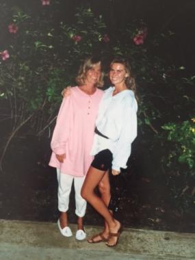 Mom and me Kim