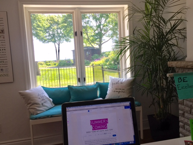 Kim MacGregor Entrepreneur office view