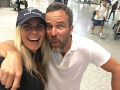 My Brother JR Bourne at airport