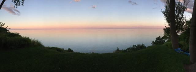 Pink Sunset over Lake Ontario