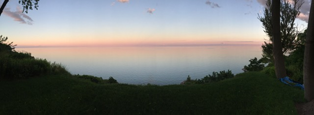 Pink Sunset over Lake Ontario